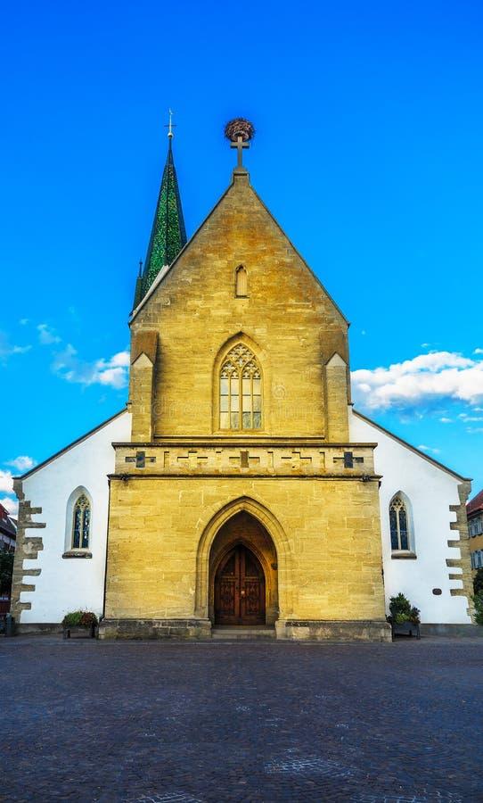 St. John Baptist Church in Bad Saulgau, Germany. St. John Baptist Church in Bad Saulgau at marketplace, Upper Swabia, Germany stock image
