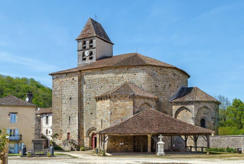 St John Baptist Church, Santo-Jean-de-Cole, Francia imagenes de archivo