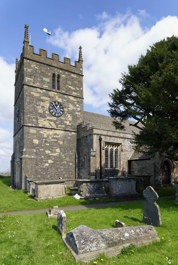 St John Baptist Norman Church, gamla Sodbury royaltyfria bilder