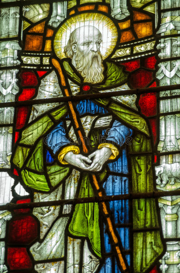 Download St John The Baptist Stained Glass Window Stock Image - Image: 34366971