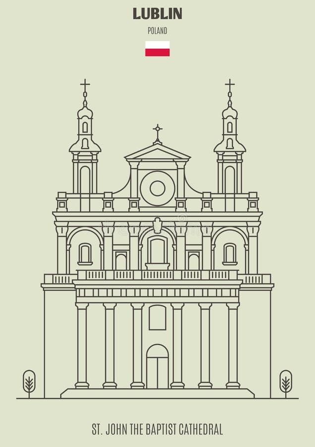 St John Baptystyczna katedra w Lublin, Polska Punkt zwrotny ikona ilustracji