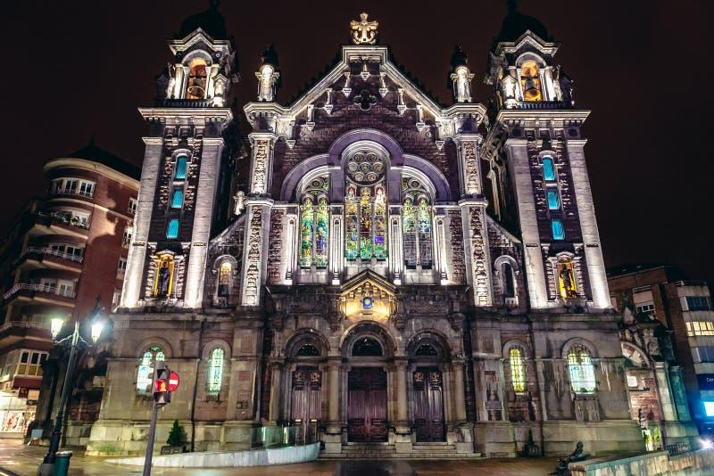 St John basiliek in Oviedo royalty-vrije stock fotografie
