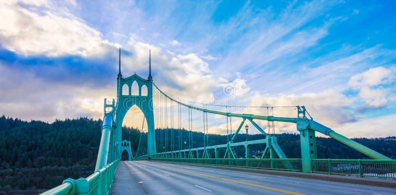 St John Brug in Portland Oregon, de V royalty-vrije stock fotografie