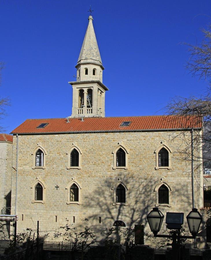 St. John Cathedral in Budva stockbilder
