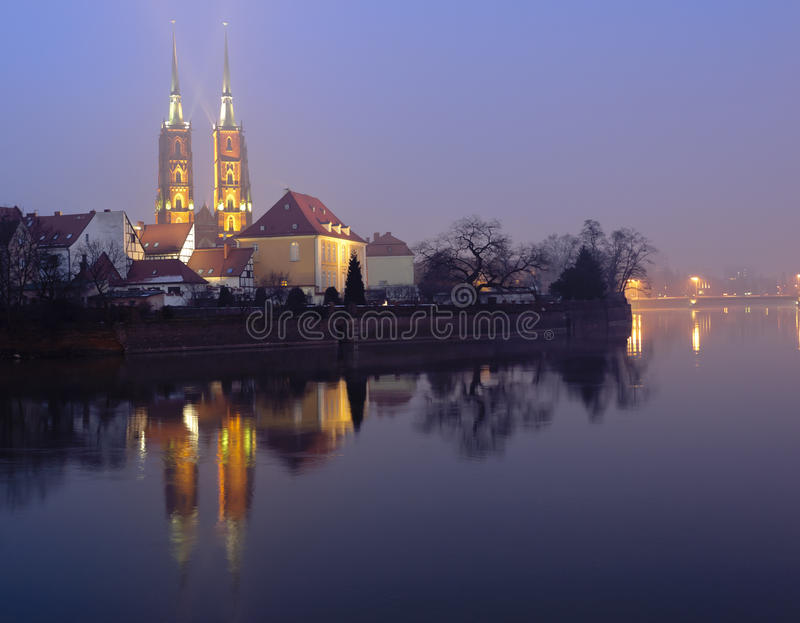 St. John Cathedral Church in Wroclaw (Breslau) stock photography