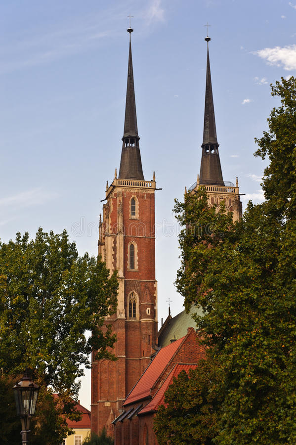 St. John Cathedral Church - Wroclaw (Breslau) stock image