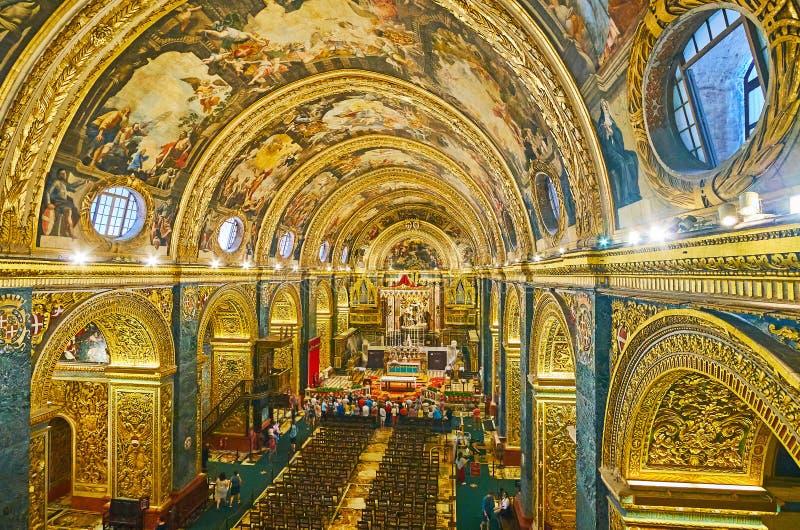 St John Co-Kathedraal van zijn balkon, Valletta, Malta stock foto