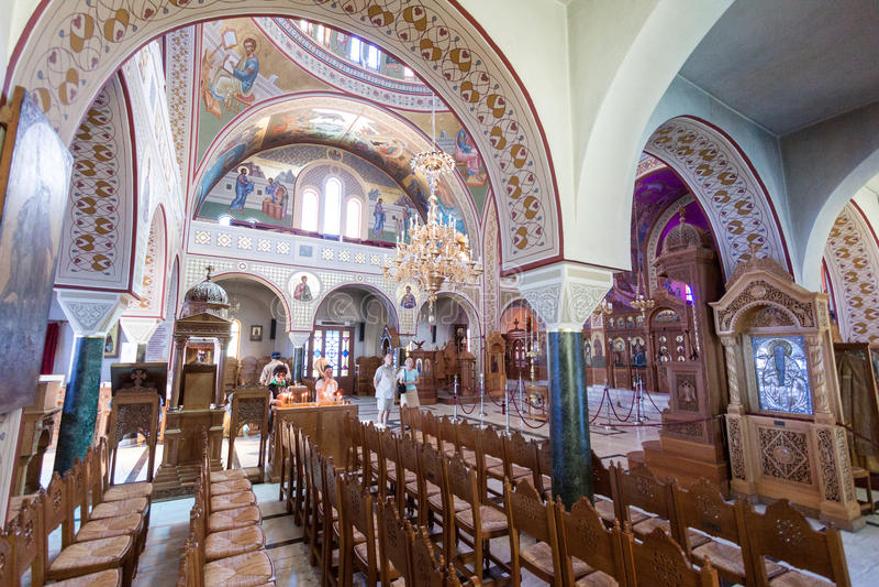 St John de Baptist Church Santorini Greece immagini stock