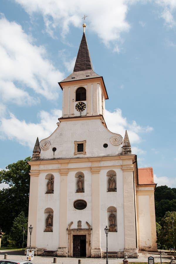 St John de Doopsgezinde kerk in Namest-nad Oslavou stock fotografie