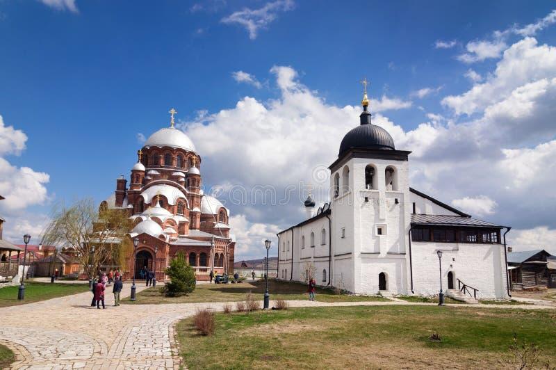 St John el monasterio baptista en la isla de Sviyazhsk fotos de archivo