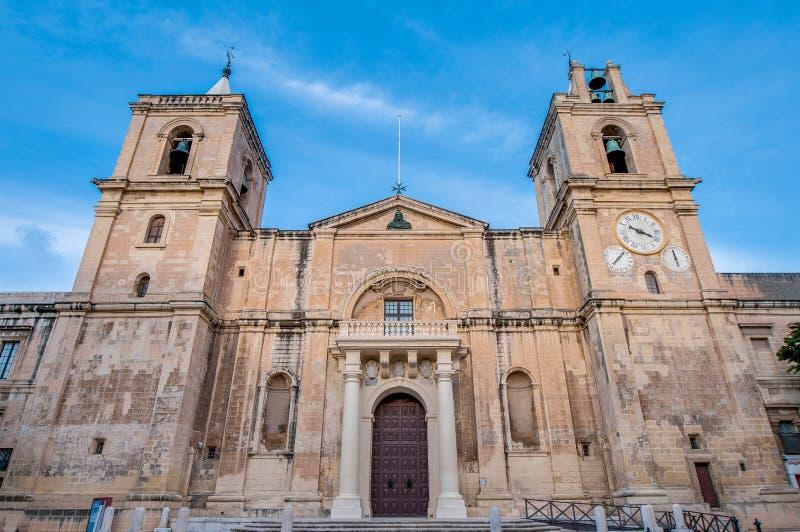 St John et x27 ; Co-cathédrale de s à La Valette, Malte photographie stock libre de droits