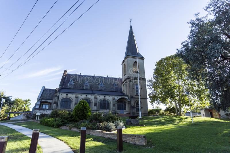 "St John Evangelist Anglican Church do †de Wagga Wagga "" fotografia de stock"