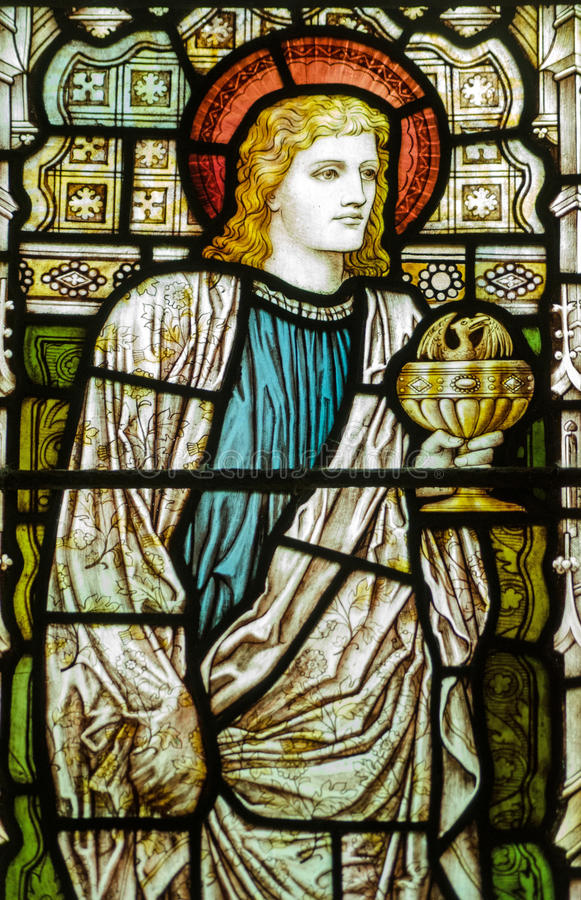 Download St John The Evangelist Stained Glass Window Stock Photo - Image: 35039550