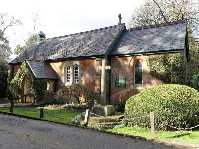 St John evangelistkyrkan, Heronsgate, Chorleywood royaltyfri fotografi