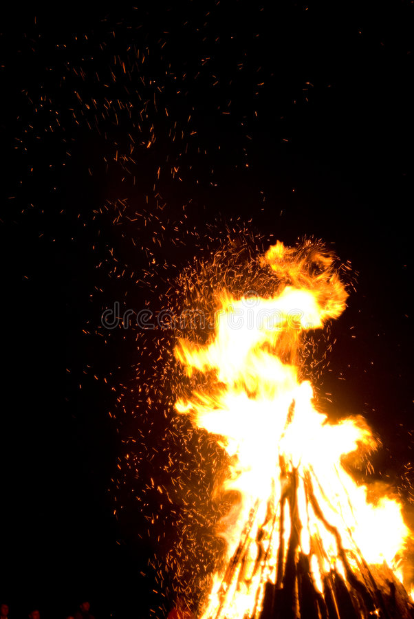 St. John het vuur van de Dag stock afbeelding