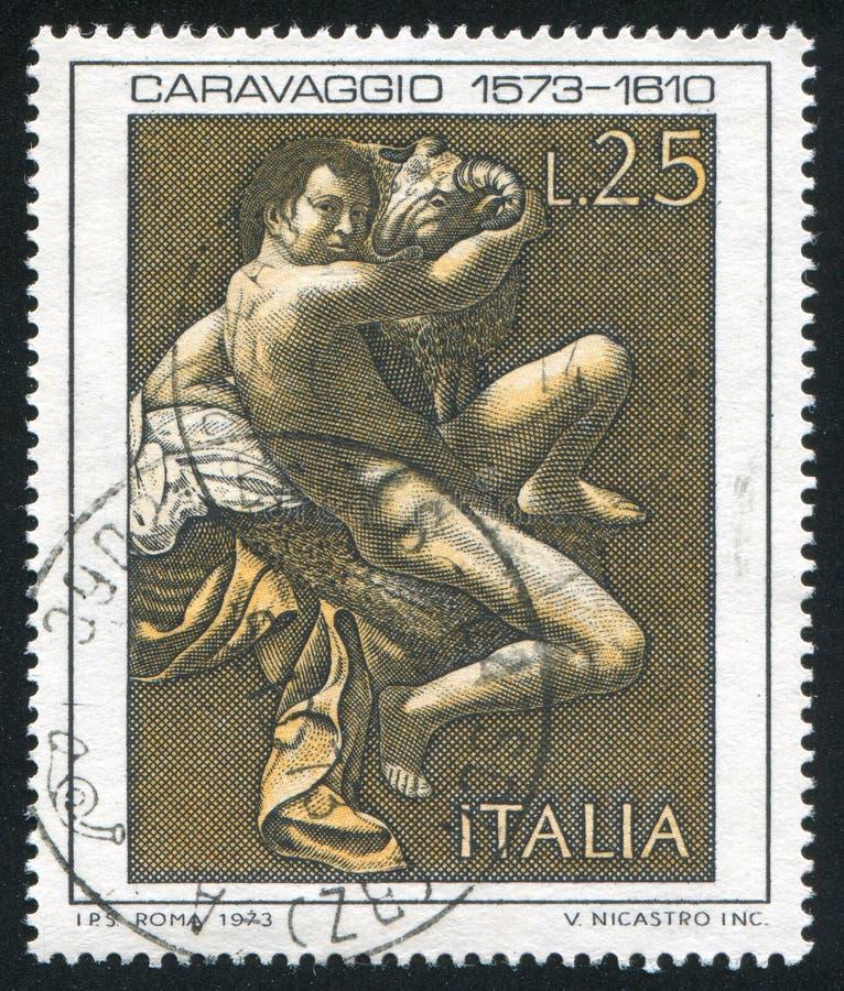 St John il battista da Caravaggio fotografia stock libera da diritti