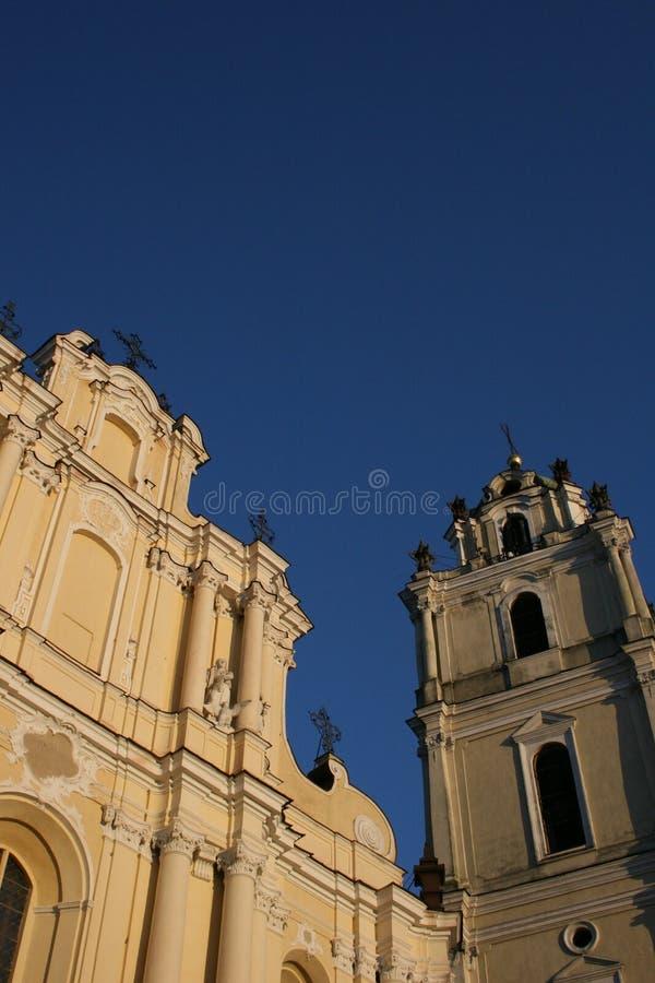St John Kerk op Universiteit Vilnius stock afbeelding