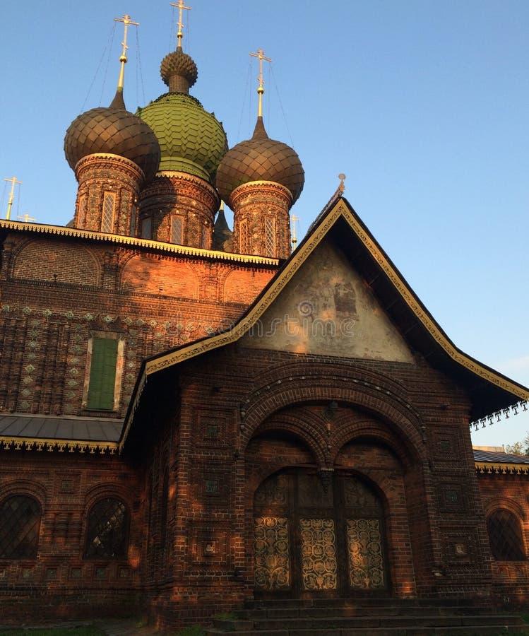 St John kościół w Yaroslavl zmierzchu fotografia stock