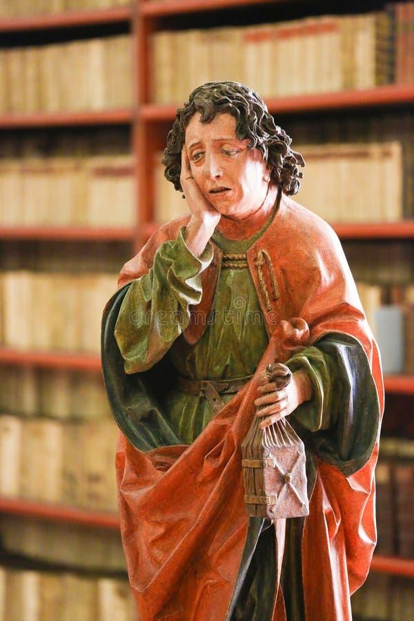 St John l'évangéliste dans le monastère de Strahov, Prague photographie stock libre de droits