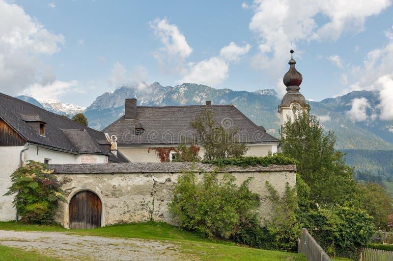 St John la chiesa battista in Haus, Austria immagine stock libera da diritti