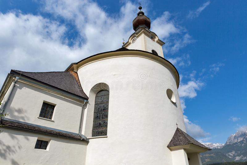 St John la chiesa battista in Haus, Austria fotografia stock libera da diritti