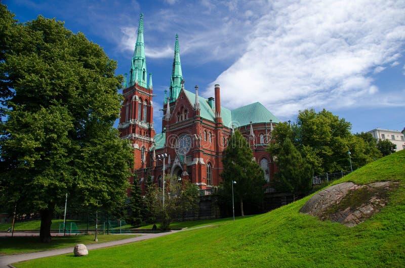 St John Lutheran Kerk Johanneksenkirkko, Helsinki, Finland stock afbeeldingen