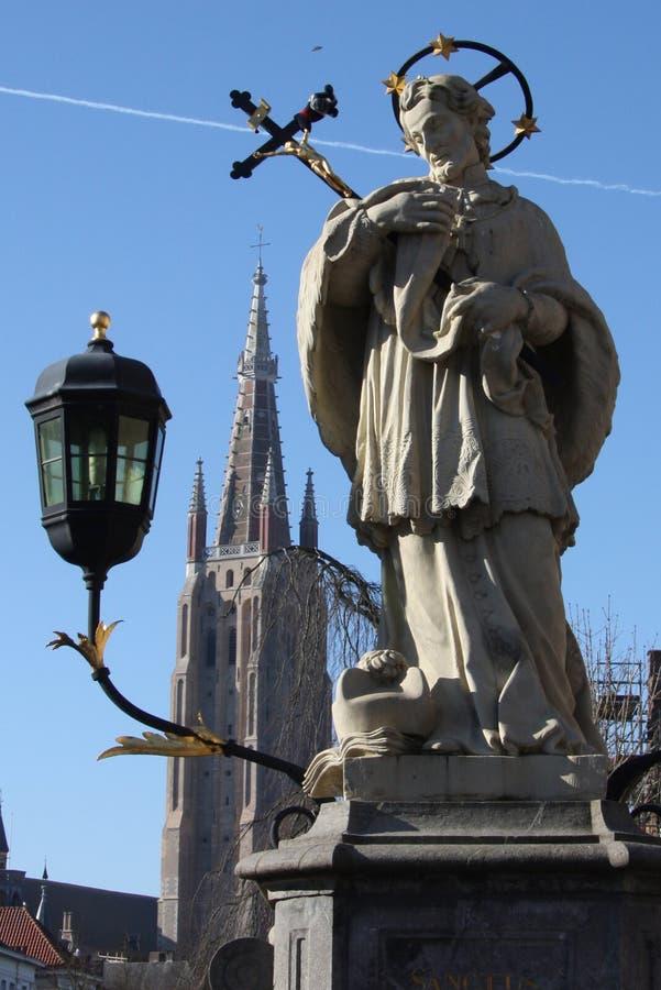 St. John Nepomuk statue royalty free stock images