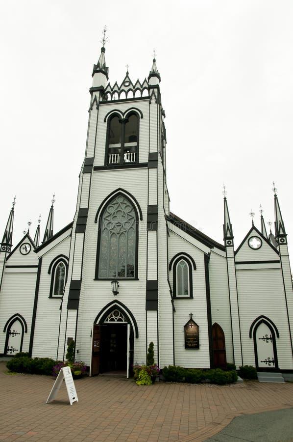 ST John& x27 s Αγγλικανική Εκκλησία - Lunenburg - Νέα Σκοτία στοκ φωτογραφία με δικαίωμα ελεύθερης χρήσης