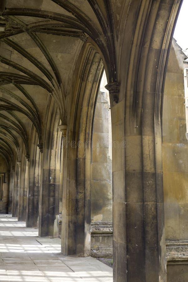 st john s колоннады коллежа стоковые изображения