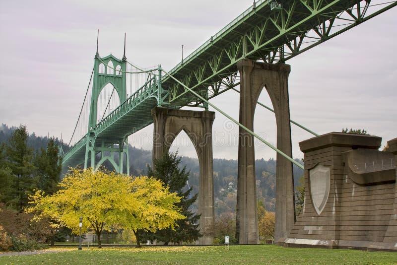 St. John's Bridge in Portland Oregon, USA. stock image