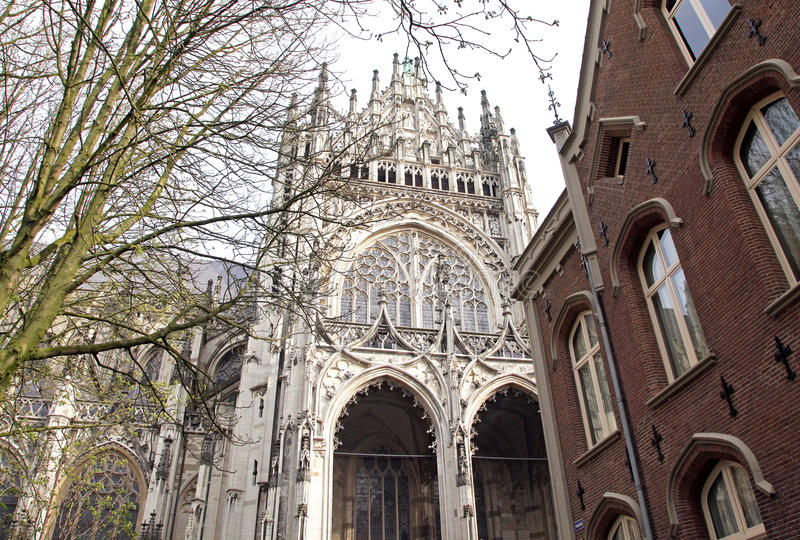 St. John's Cathedral at's-Hertogenbosch, Netherlands stock photo