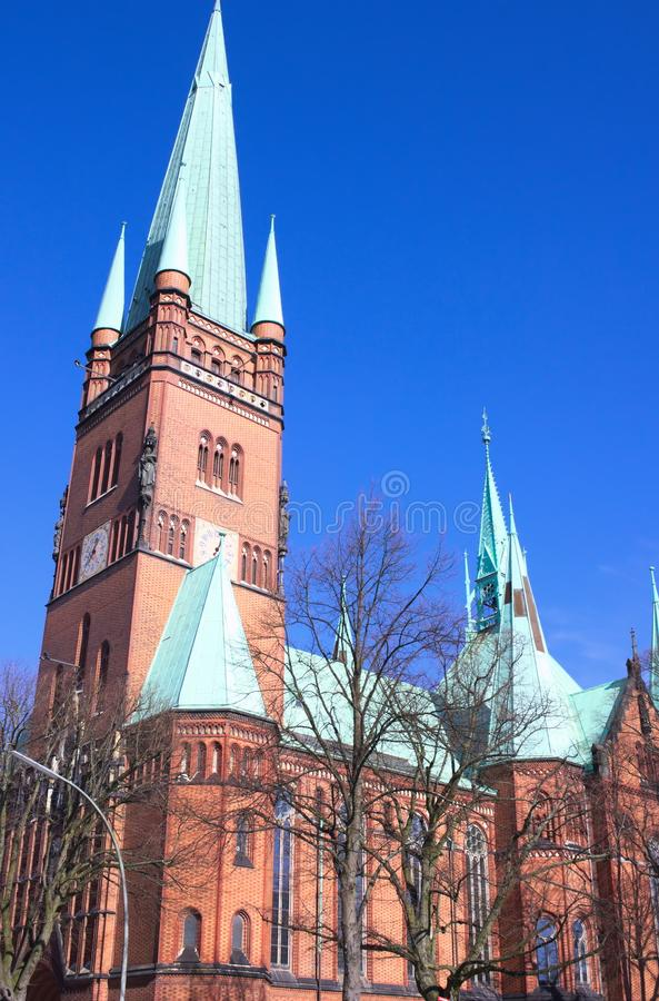 St. John`s Cathedral - XI- Hamburg - Germany. A masterpiece of the hanseatic brick gothic- the St. John`s Cathedra in Hamburg - shot in 2014 royalty free stock photography