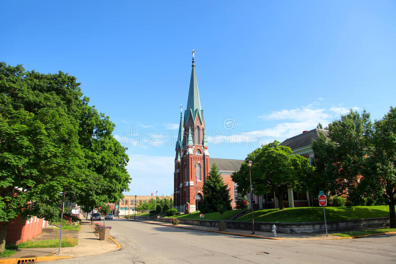 St John`s Catholic Church in Vincennes,Indiana. Vincennes, Indiana - August 18, St John`s Catholic Church in Vincennes,Indiana on August 18,2016 royalty free stock photos