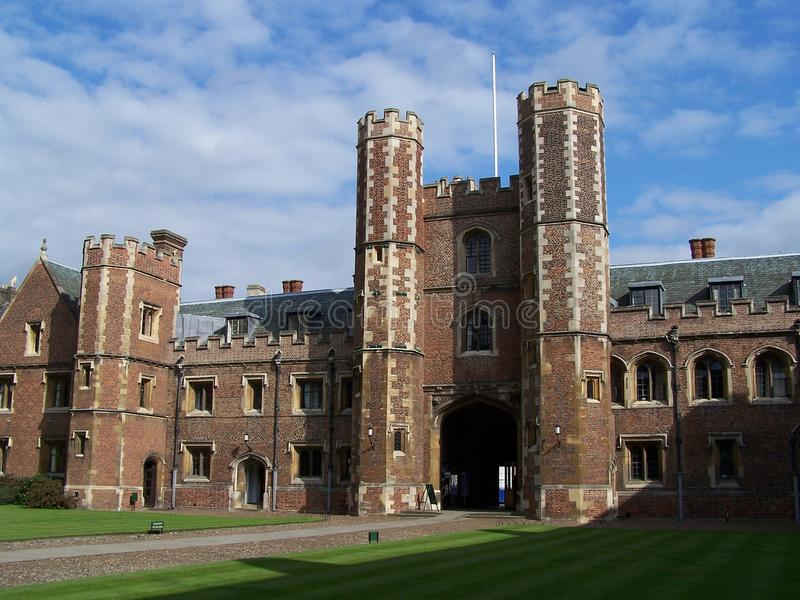 St. John's college in Cambridge stock image