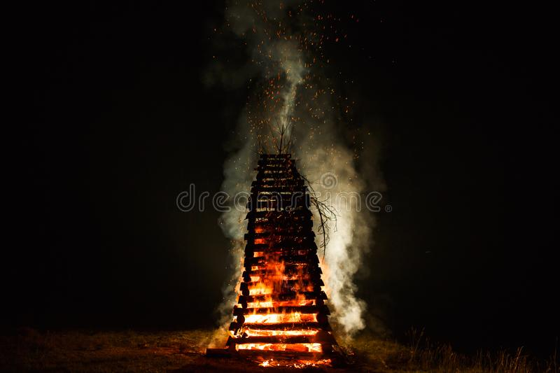 St John`s fire stock photography