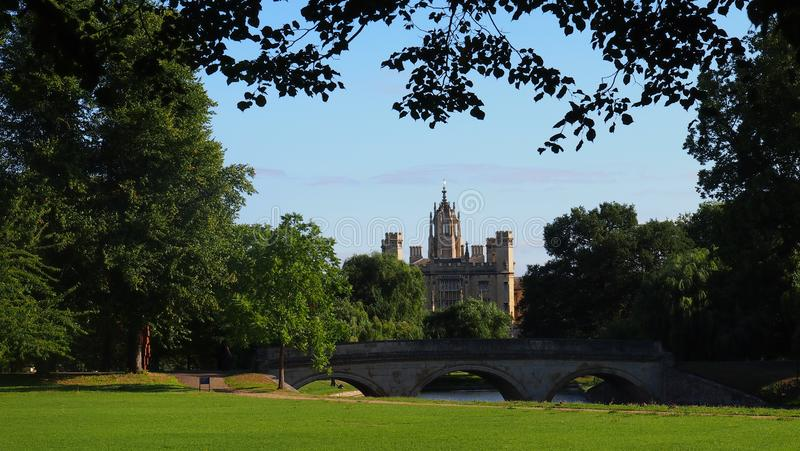 St John ` s Universiteit in Cambridge, Engeland stock afbeelding