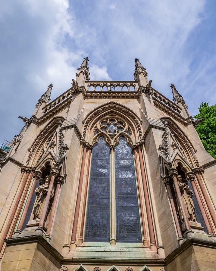 St John ` s Universiteitskapel, de Kerk van Cambridge, Engeland - Calvary-Kapel stock foto