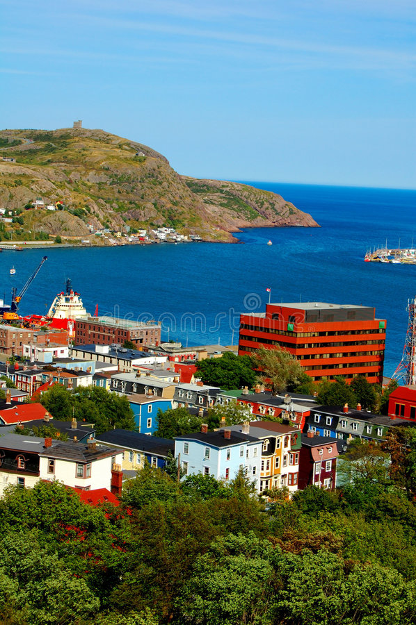 St. John, Terra Nova imagem de stock