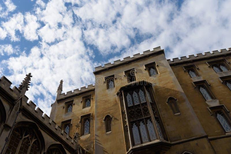 St John Universiteit bij de Universiteit van Cambridge, Cambridge, Engeland stock fotografie