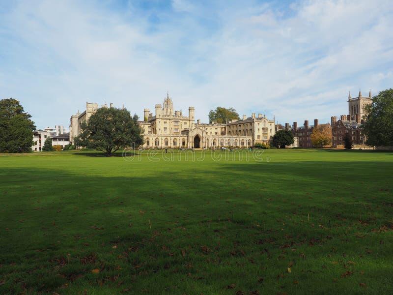 St John universiteit in Cambridge royalty-vrije stock afbeeldingen