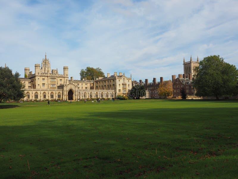 St John universiteit in Cambridge royalty-vrije stock fotografie
