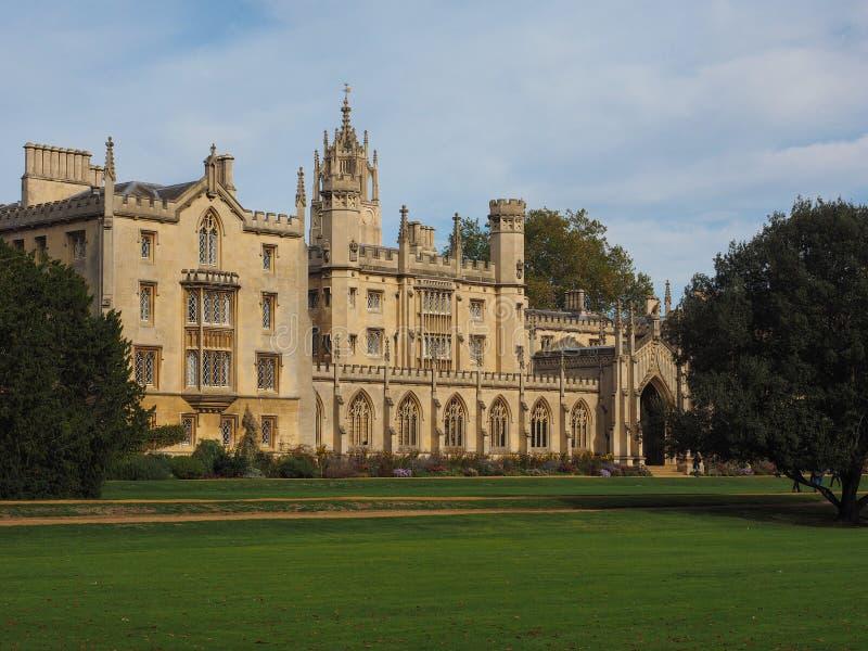 St John universiteit in Cambridge stock afbeelding