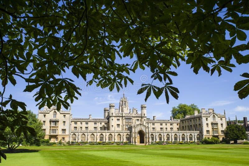 St John universiteit in Cambridge stock fotografie