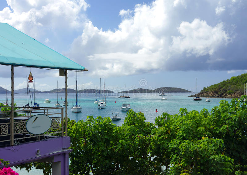 St. John, US Virgin Islands. View of the harbor on the island St. John in the US Virgin Islands royalty free stock photography