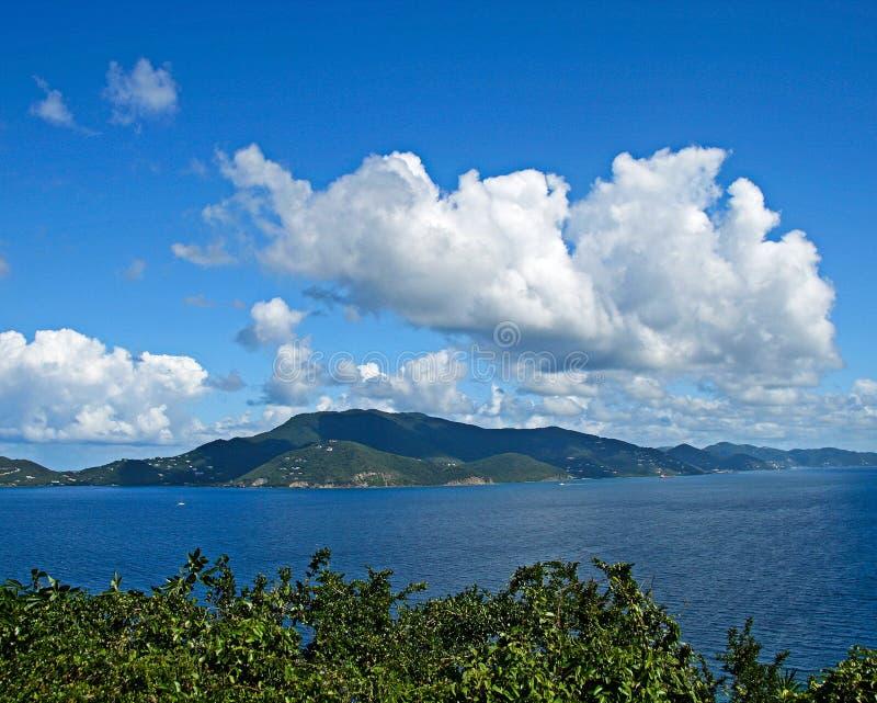 St. John USVI обозревая британцев Tortola стоковые фотографии rf