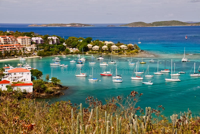 St. John, USVI - Overweldigende Baai Cruz stock foto
