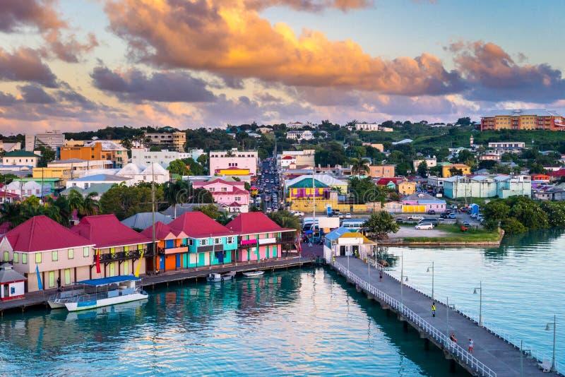 St Johns Antigua stock afbeelding