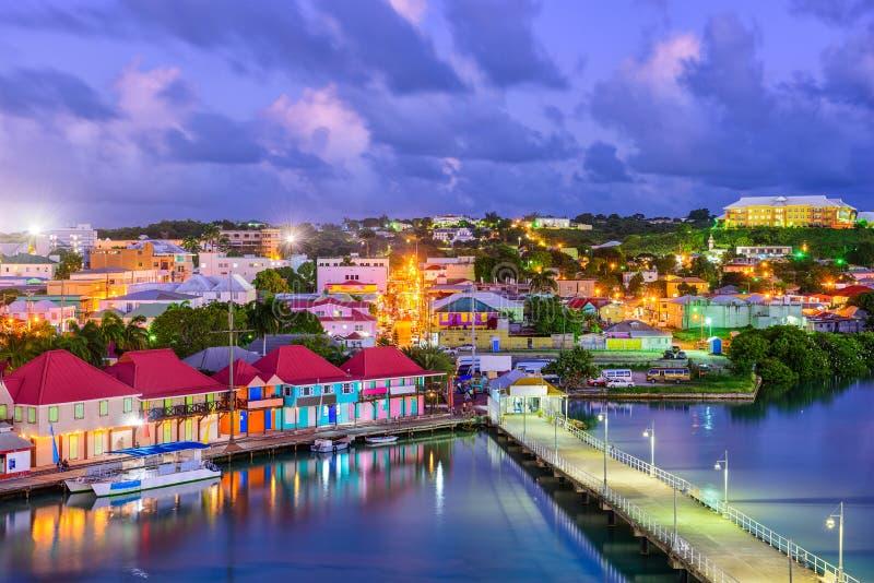 St. Johns Antigua royalty free stock photos