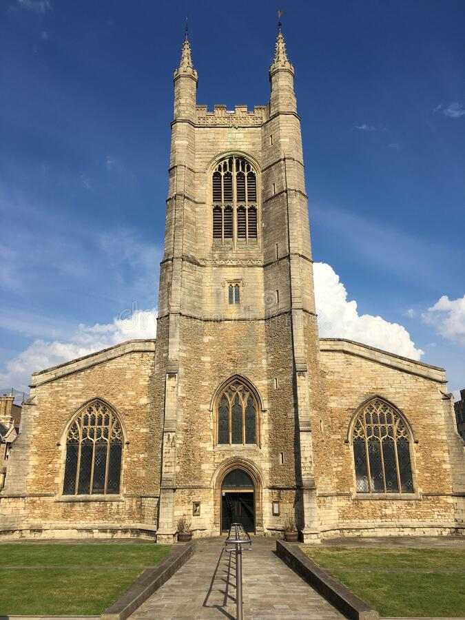 St Johns Church, Peterborough UK. This is St Johns Church located at market square in the city of Peterborough United Kingdom royalty free stock photo