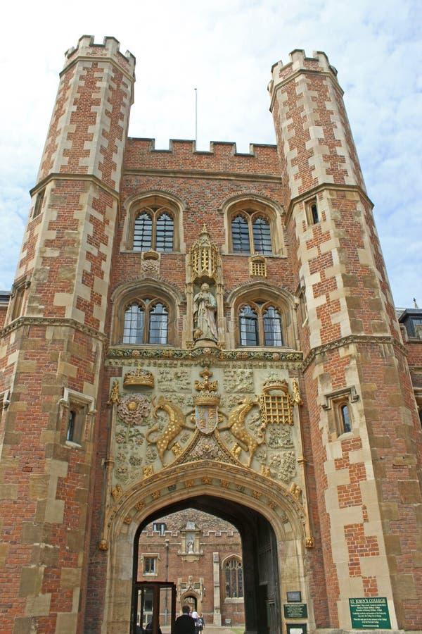 St Johns högskola, Cambridge royaltyfri fotografi